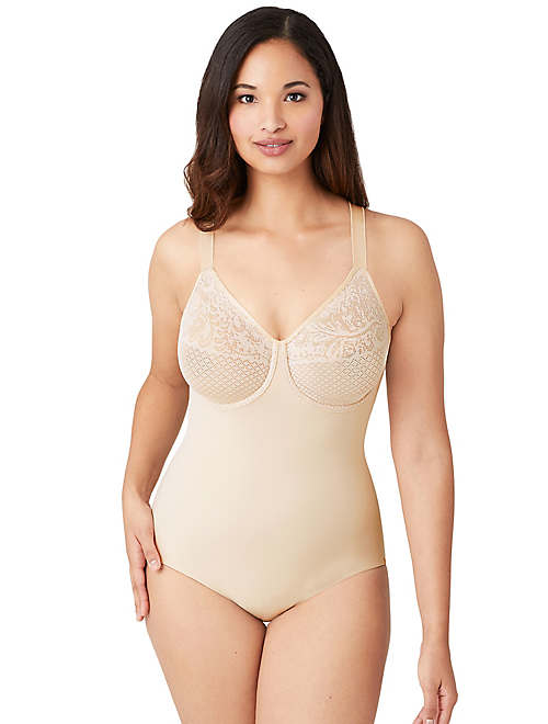 Visual Effects Bodysuit with Minimizer Bra - 40DDD - 801210