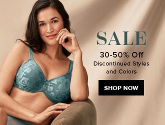 sale; 30 to 50% off; discontinued styles and colors; shop now